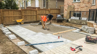 Backyard Landscape During Construction
