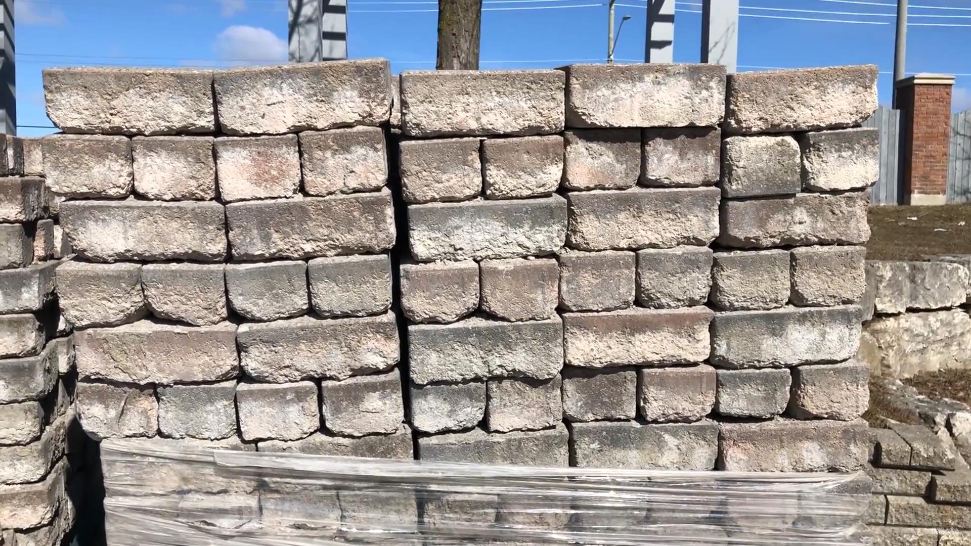 Concrete pavers degraded