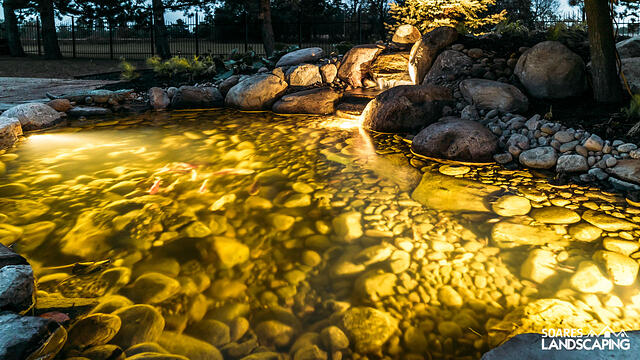 Water Feature- Koi Pond 10x15 with Lighting- Breslau, ON