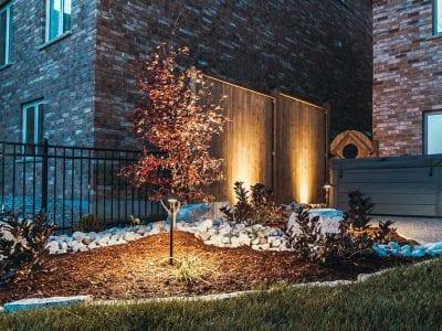Backyard-Garden-With-Outdoor-Lighting-In-Kitchener-400x300