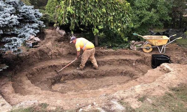Digging-A-Koi-Pond-In-Kitchener-600x360