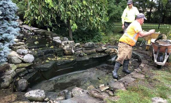Renovating-An-Existing-Koi-Pond-In-Kitchener-Before-600x360